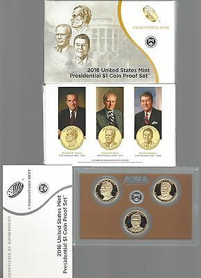 USA: United States Mint Presidential 1 Dollar Coin Proof Set 2016