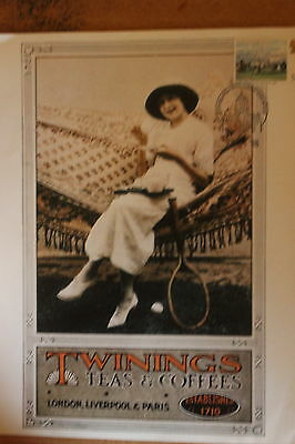 Twinings Tea poster with stamp SG1087