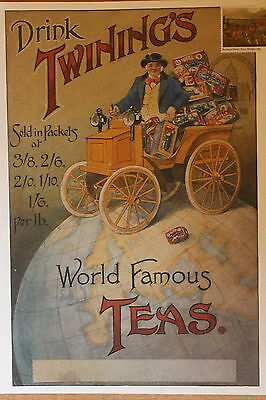 Twinings Tea poster with stamp SG1090