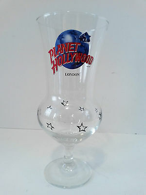 Hurricane Glass Planet Hollywood London 1990 Collectible Advertising Stemware
