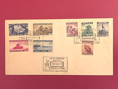 Poland , Exile Gov In Great Britain , Full Set On Cover -  Extremely Rare