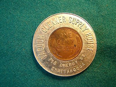 Chattanooga Tennessee Encased Cent Advertising Wwii Victory