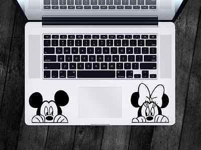 Mickey Minnie Sticker Disney Decal For Apple MacBook iPad Laptop Car Window