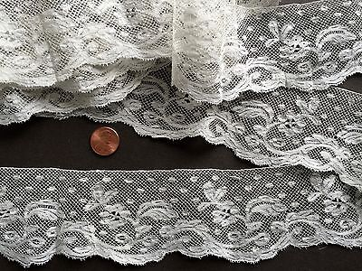 19th C. handmade Valenciennes bobbin lace yardage - COUTURE COLLECT