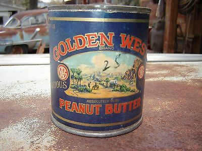 Golden West Peanut Butter Can