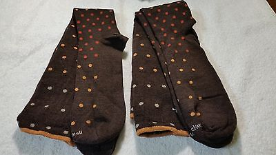Two Pair Of Compression socks by Sockwell, ML, ships free, Brown Polka Dot