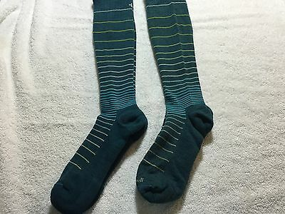 Two Pair OfCompression socks by Sockwell, Green Strip  Size Sm-med Free Shipping