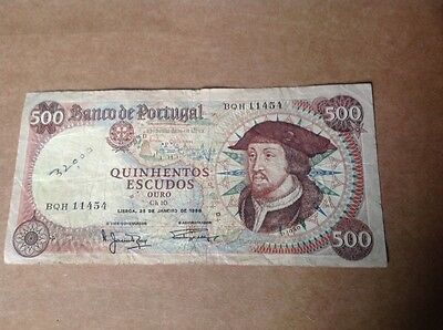 500 Portugal Escudos banknote dated 1966