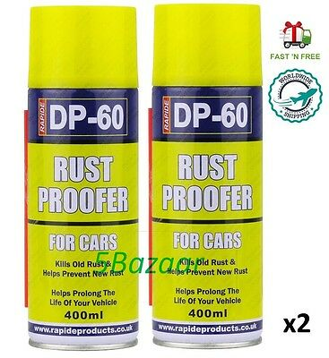 2x 400ml Semi-Clear DP-60 Car Vehicile Rust Proofer Spray Aerosol Like Waxoyl