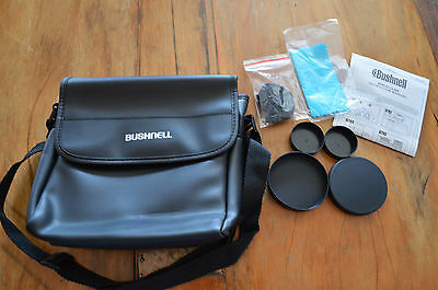 Bushnell Binocular Case W/ Accessories Instructions,lens Caps,carry Strap