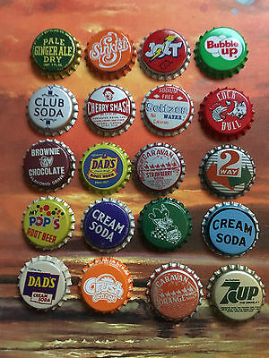 Vintage to Collectible Lot of 20 Unused Older Bottle Caps