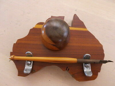 Inkwell,  ink well on timber Australia