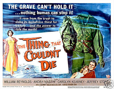 The Thing That Couldn't Die Lobby Title Card Poster 1958 William Reynolds