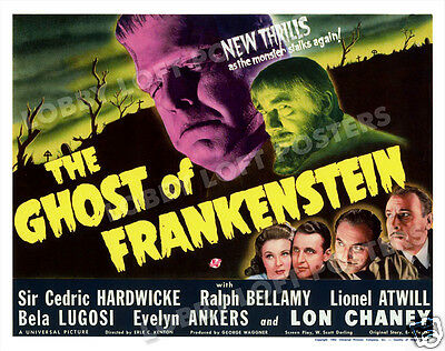 The Ghost Of Frankenstein Lobby Title Card Poster 1942