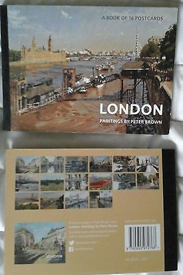 BOOK OF 16 POSTCARDS - London: Paintings by Peter Brown