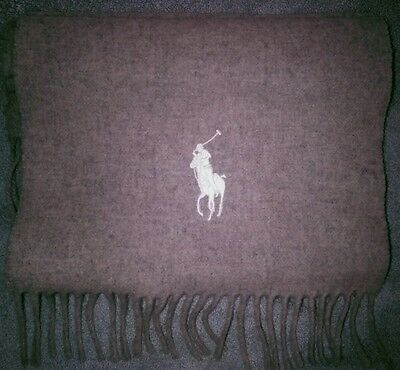 Polo Ralph Lauren Scarf.NWT.Made in Italy.100%Virgin Wool.Color 033