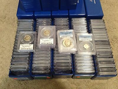 Overstock Estate Sale Kennedy Half Dollar 90% Silver Pcgs Pr69Dcam 1 Buy =1 Slab