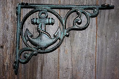 (10) Seafood Restaurant Ocean Wall Decor,bronze-Look Anchor Shelf Bracket,b-39