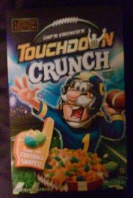 Box Only CAP'N CRUNCH'S TOUCHDOWN CRUNCH CEREAL limited edition Captain football