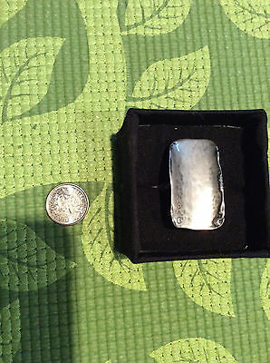 Authentic Retired Silpada Large Silver Ring Size 5
