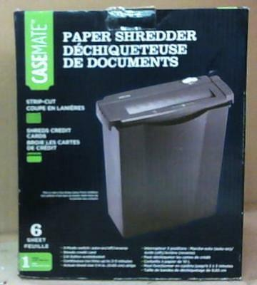 Casemate WMC6SB 6 Sheet Stripcut Paper Shredder