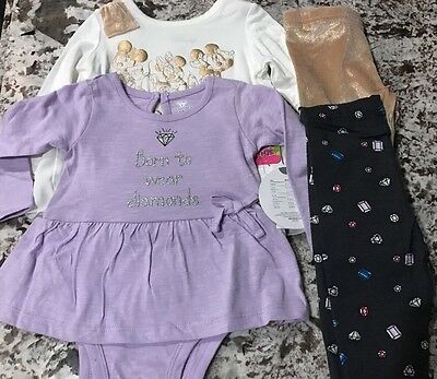 NWT 4pc BABY GIRL CLOTHING LOT SIZE 3-6m