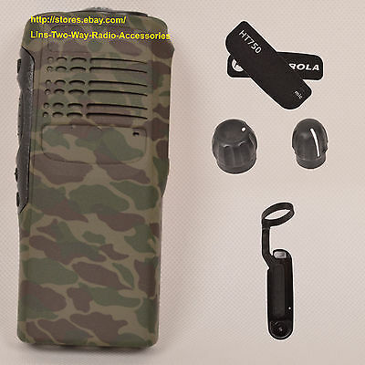 Camouflage replacement housing case for Motorola HT750(Ribbon Cable+Speaker+mic