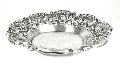 VINTAGE STERLING SILVER .925 REPOUSSE CANDY OR NUT DISH FULLY HALLMARK 38.9 Gr.