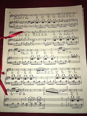 Phantom Of The Opera Broadway Prop Christine's Sheet Music Authentic Stage Used