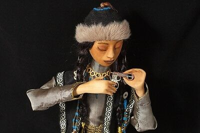 Art doll. Doll made of wood. Doll handmade. The doll as a gift. Hoelun Dol