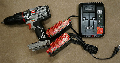 Porter Cable PCC620LB 20v Max 1/2 in. 2.0 AH Lithium Ion Hammer Drill Kit New