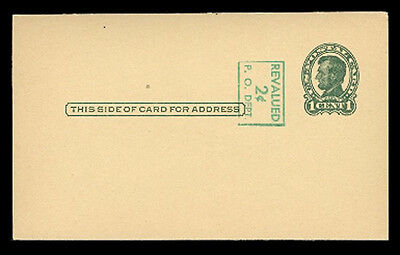 UX40a (S58-2) HEAD 3, 2c on 1c LINCOLN, SURCHARGE READING DOWN MINT POSTAL CARD