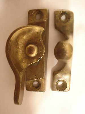 Vintage Heavy Brass Mid Century Window Sash Lock