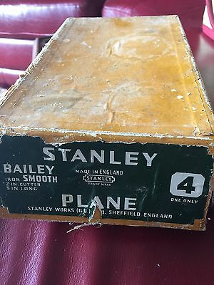 Stanley Plane Number 4 Sheffield England In Box