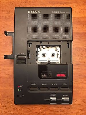 Sony Microcassette Dictator Transcriber Recorder M-2020 Parts/Repair Functional!