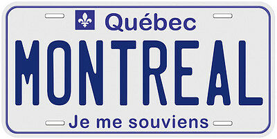 Quebec Aluminum Any Name Personalized Novelty Car License Plate