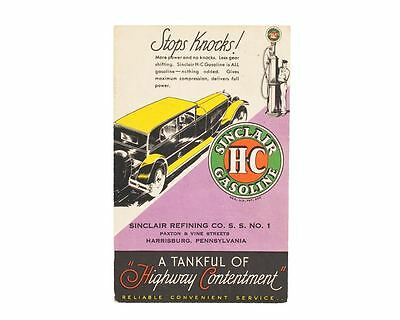 Sinclair HC Gasoline & Motor Oils Post Card With Graphics