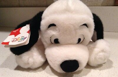 """Disney Store 101 Dalmatians Lucky Plush Toy Stuffed Dog 12"""" Spotted Puppy NEW"""
