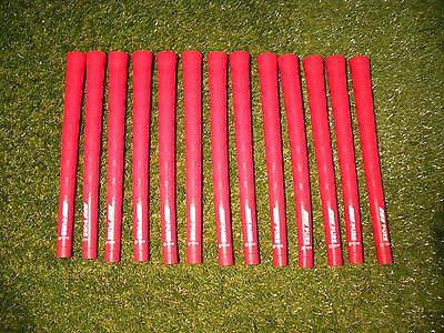 13 x PURE DTX Red Golf Grips Standard Size **NEW**