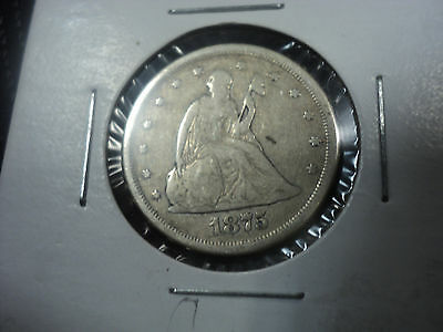 1875 S 20c COIN 90% SILVER