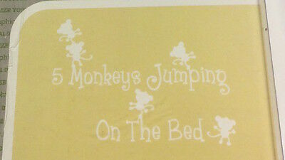 Decal Decor, Baby Nursery, 5 Monkeys Jumping On The Bed Wall Decals, Nip