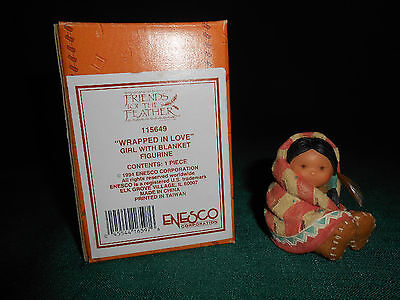 """""""wrapped In Love 115649"""" ~ """"enesco"""" Figurine Mib ~ """"friends Of The Feather"""""""