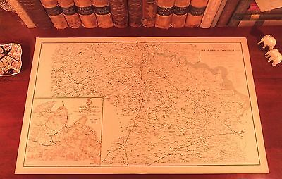 Original Antique Civil War Map VIRGINIA Petersburg Suffolk Chancellorsville VA