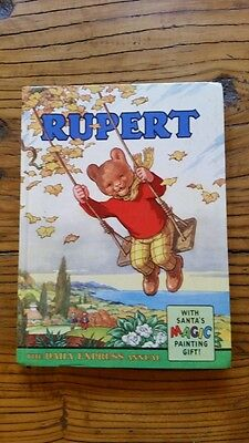 RUPERT ANNUAL 1961 - LOVELY BOOK w/ SOLID SPINE, MOST MAGIC PAINTINGS NOT DONE