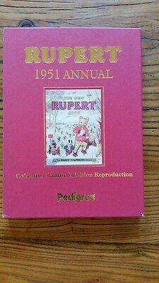 RUPERT ANNUAL 1951 FACSIMILE - BOOK IN VERY GOOD CONDITION with CERTIFICATE