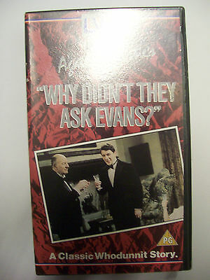 WHY DIDN'T THEY ASK EVANS? [1980] VHS – Francesca Annis, James Warwick, Gielgud