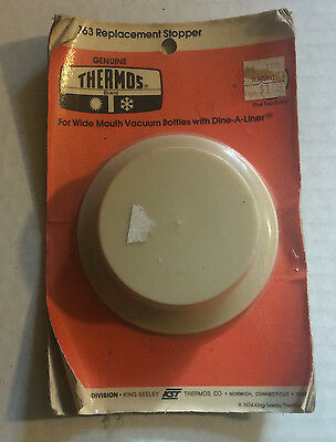 1974 NOS 763 Replacement Thermos Stopper King-Seeley Thermos Company