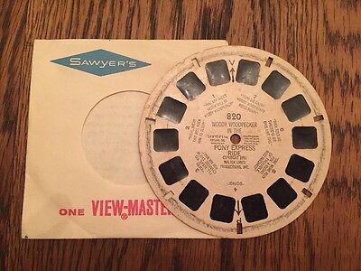 View Master WOODY WOODPECKER IN THE PONY EXPRESS RIDE 820 Sawyers 1951