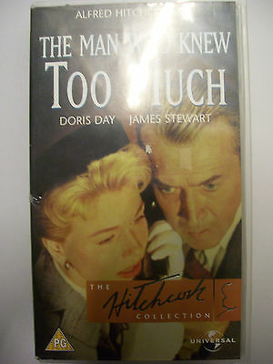 THE MAN WHO KNEW TOO MUCH [1956] VHS – Hitchcock: James Stewart, Doris Day