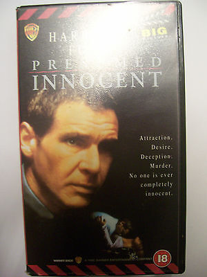 PRESUMED INNOCENT [1990] VHS – Thriller: Harrison Ford, Raul Julia